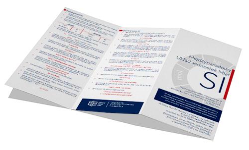 Broszurka składana - Międzynarodowy Układ SI