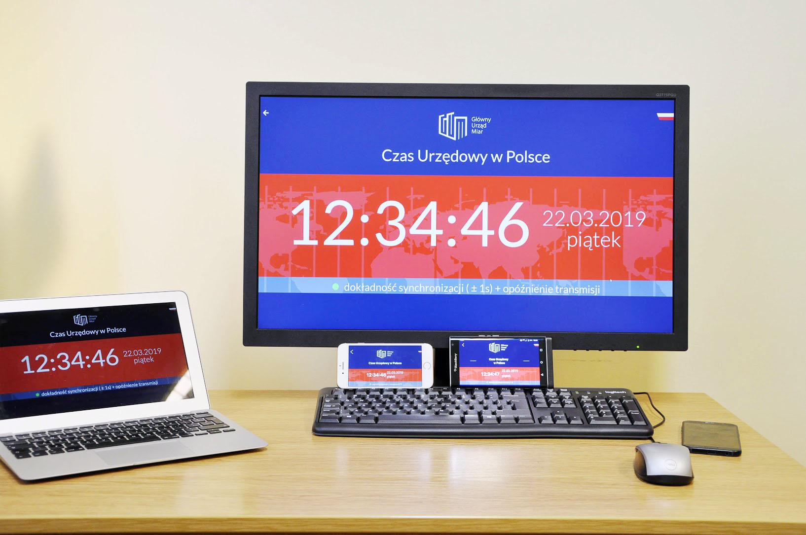 Czas GUM - oficjalny czas urzędowy - nowa aplikacja Głównego Urzędu Miar