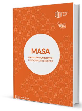 """Miniatura okładki Przewodnika po dziedzinie """"Masa"""" - okładka w kolorze pomarańczowym."""