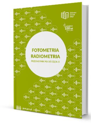 """Okładka przewodnika """"Fotometria i Radiometria"""" w kolorze zielonym"""